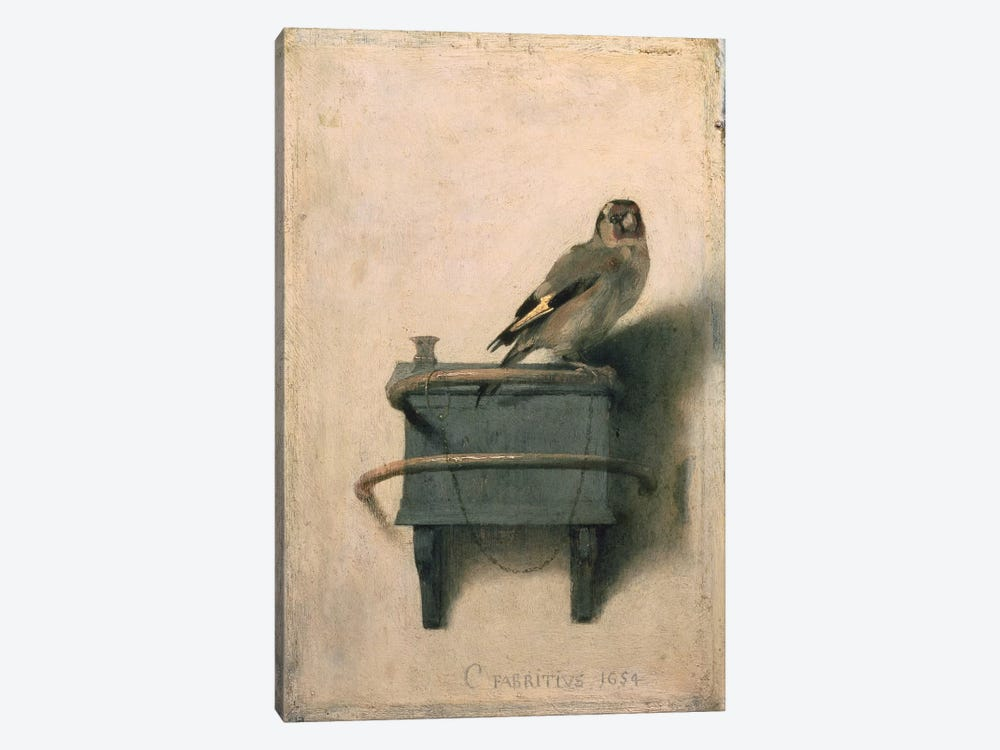 The Goldfinch, 1654  by Carel Fabritius 1-piece Canvas Artwork