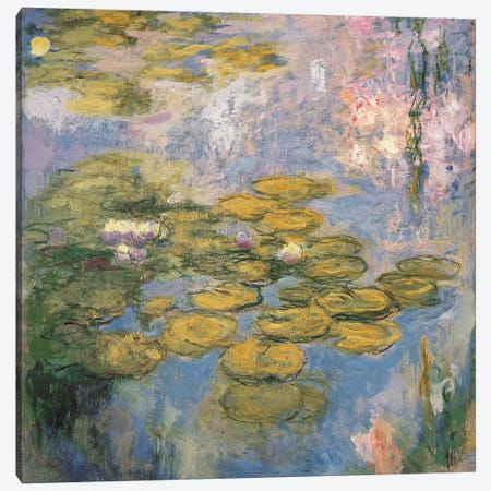 Nymphéas, 1916-19  Canvas Print #BMN5245} by Claude Monet Canvas Art