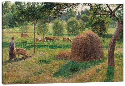 Dusk at Eragny, 1896  Canvas Art Print