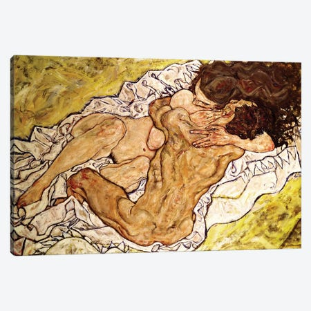 The Embrace, 1917 Canvas Print #BMN524} by Egon Schiele Canvas Artwork