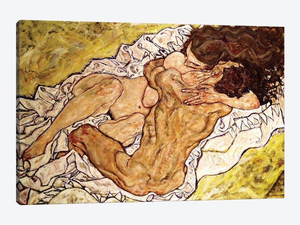 The Embrace, 1917 by Egon Schiele 1-piece Canvas Art Print