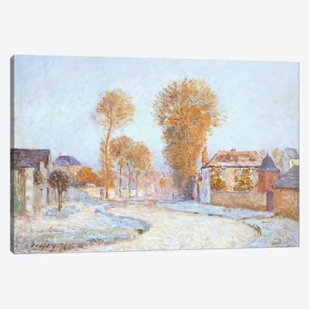 First Frost, 1876  Canvas Print #BMN5251} by Alfred Sisley Canvas Art