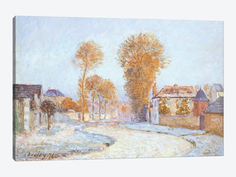 First Frost, 1876  by Alfred Sisley 1-piece Canvas Art