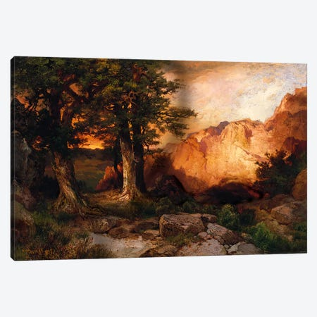 Western Sunset, 1897  Canvas Print #BMN5253} by Thomas Moran Canvas Artwork