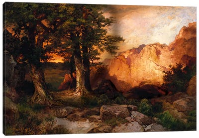 Western Sunset, 1897 Canvas Art Print