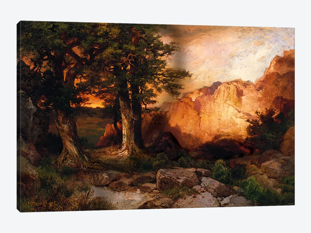 Western Sunset, 1897 by Thomas Moran 1-piece Canvas Wall Art