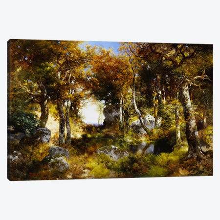 The Woodland Pool, 1909  Canvas Print #BMN5255} by Thomas Moran Canvas Art Print