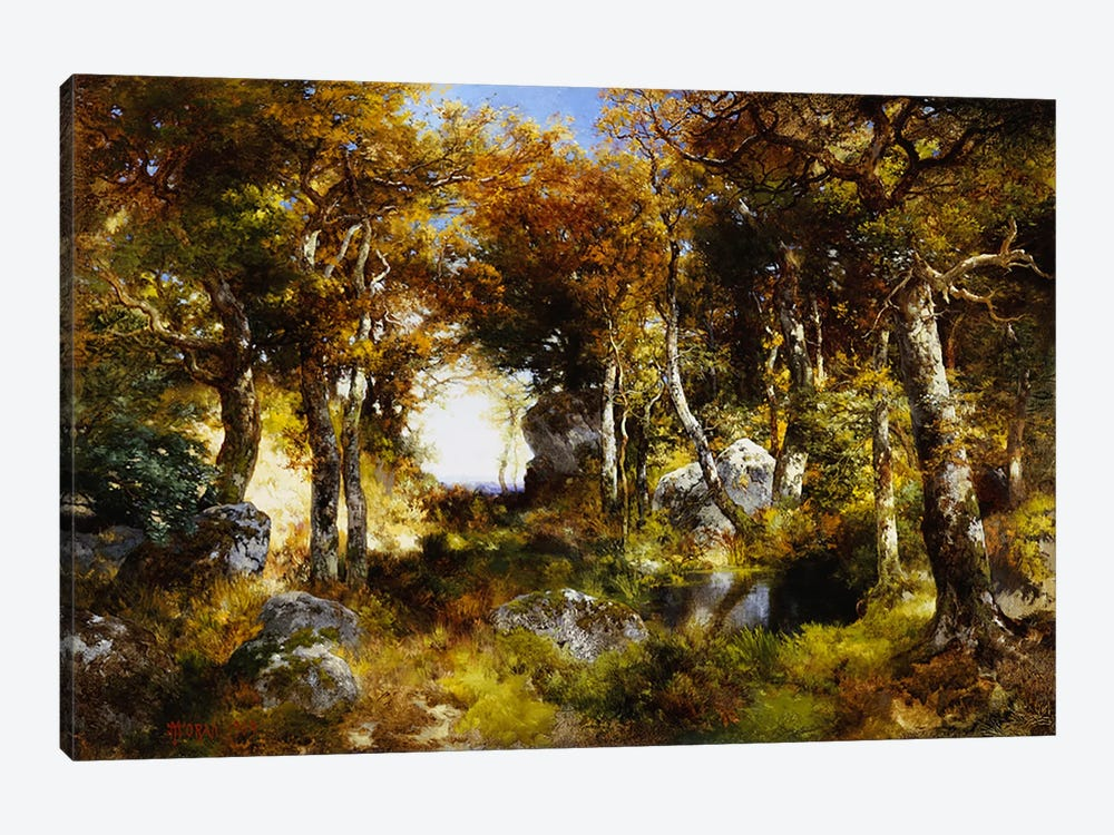 The Woodland Pool, 1909  by Thomas Moran 1-piece Canvas Wall Art