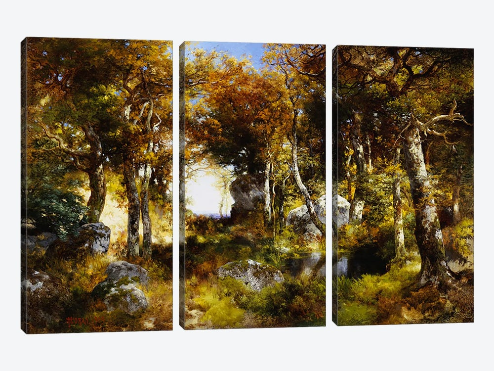 The Woodland Pool, 1909  by Thomas Moran 3-piece Canvas Art