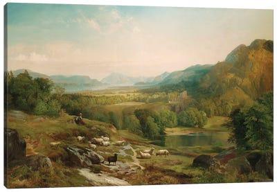 Minding the Flock, c.1867  Canvas Art Print