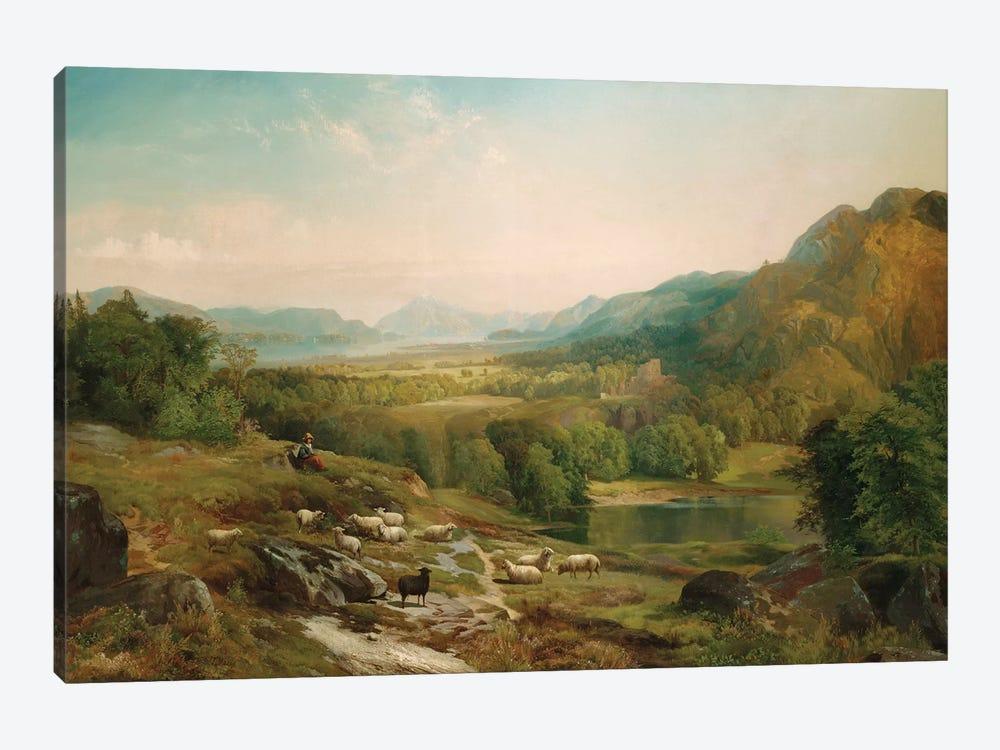 Minding the Flock, c.1867  by Thomas Moran 1-piece Canvas Print