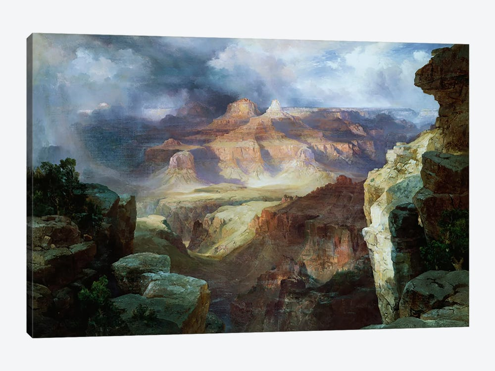 A Miracle of Nature  by Thomas Moran 1-piece Canvas Wall Art
