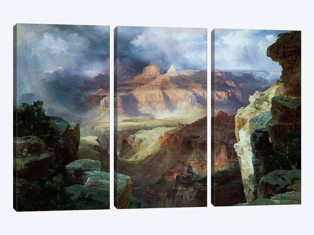A Miracle of Nature  by Thomas Moran 3-piece Canvas Art
