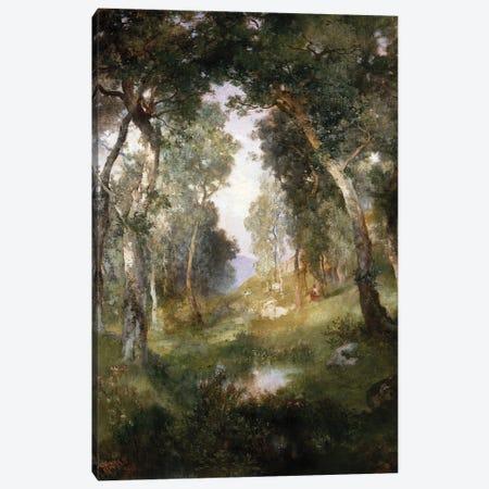Forest Glade, Santa Barbara, 1918  Canvas Print #BMN5258} by Thomas Moran Canvas Art