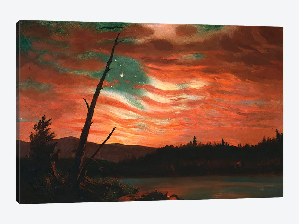 Our Banner in the Sky  by Frederic Edwin Church 1-piece Canvas Artwork