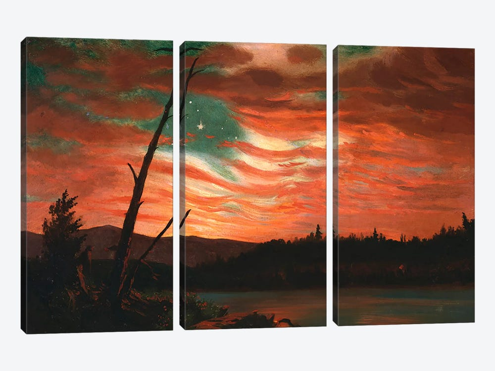 Our Banner in the Sky  by Frederic Edwin Church 3-piece Canvas Artwork