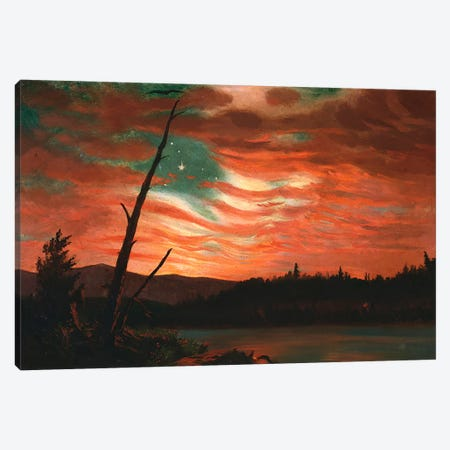 Our Banner in the Sky  Canvas Print #BMN5260} by Frederic Edwin Church Canvas Print