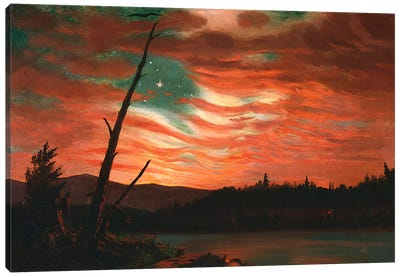 Our Banner in the Sky  Canvas Art Print