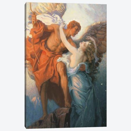 Day and the Dawnstar  Canvas Print #BMN5261} by Herbert James Draper Art Print