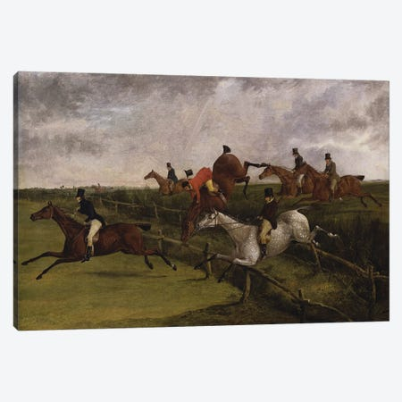 The Grand Leicestershire Steeplechase, March 12, 1829: Symptoms of Distress  Canvas Print #BMN5263} by Henry Thomas Alken Art Print