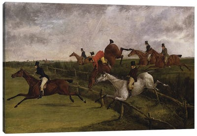The Grand Leicestershire Steeplechase, March 12, 1829: Symptoms of Distress  Canvas Art Print