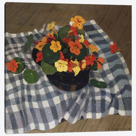 Bowl of Nasturtiums  Canvas Print #BMN5264} by Felix Edouard Vallotton Canvas Wall Art