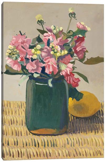 A Bouquet of Flowers and a Lemon, 1924  Canvas Art Print
