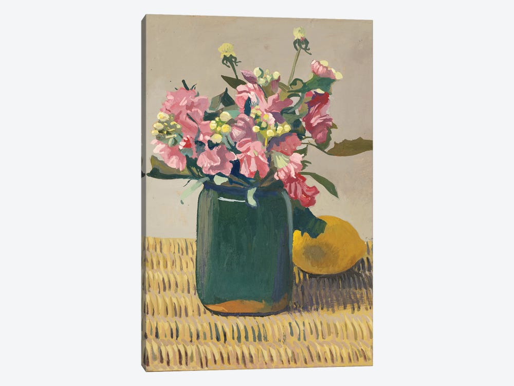 A Bouquet of Flowers and a Lemon, 1924  by Felix Edouard Vallotton 1-piece Canvas Art Print