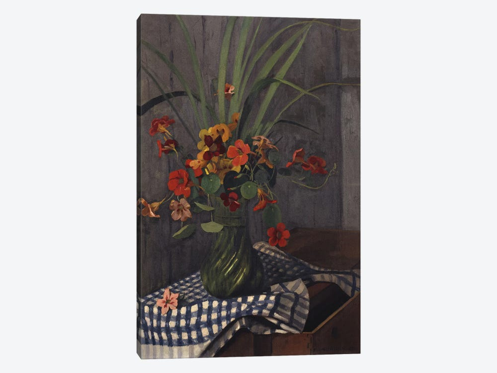 Nasturtiums, 1920 by Felix Edouard Vallotton 1-piece Canvas Print