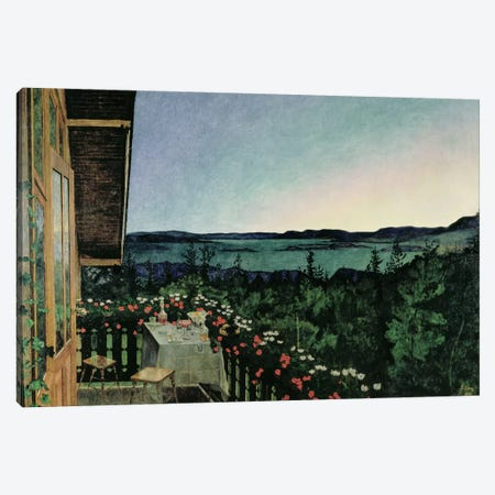 Summer Night, 1899 Canvas Print #BMN526} by Harald Oscar Sohlberg Canvas Art