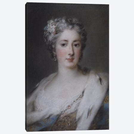 Portrait of a lady in an ermine-trimmed robe  3-Piece Canvas #BMN5274} by Rosalba Giovanna Carriera Canvas Print