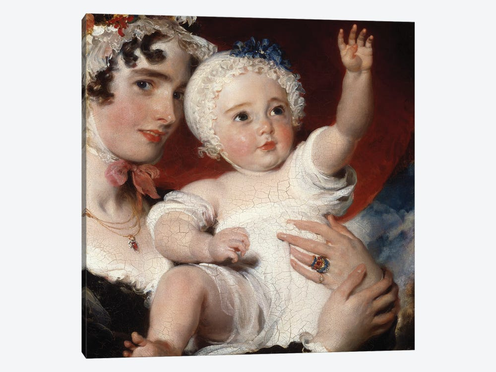 Priscilla, Lady Burghesh, holding her son, the Hon. George Fane, 1820  by Sir Thomas Lawrence 1-piece Art Print
