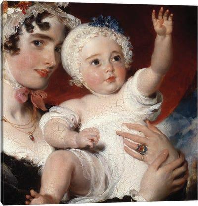 Priscilla, Lady Burghesh, holding her son, the Hon. George Fane, 1820  Canvas Art Print