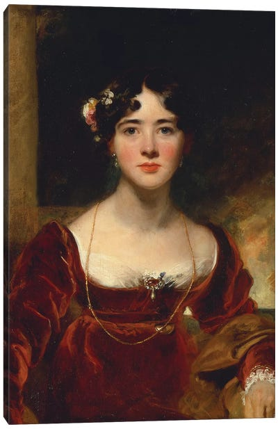Portrait of Mrs. John Allnutt, c.1810-15  Canvas Art Print
