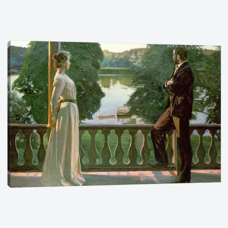 Nordic Summer Evening, 1899-1900 Canvas Print #BMN527} by Sven Richard Bergh Canvas Artwork