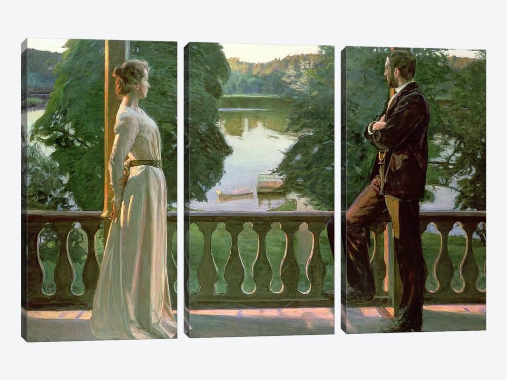Nordic Summer Evening, 1899-1900 by Sven Richard Bergh 3-piece Canvas Artwork