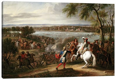 King Louis XIV of France Crossing the Rhine, 12th June 1672  Canvas Art Print