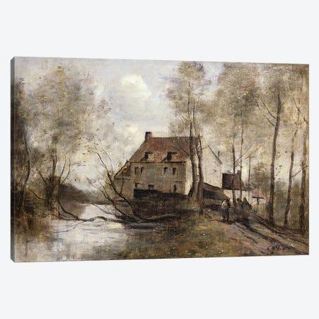 Le Moulin Brule, Planque, near Douai  Canvas Print #BMN5282} by Jean-Baptiste-Camille Corot Canvas Art Print
