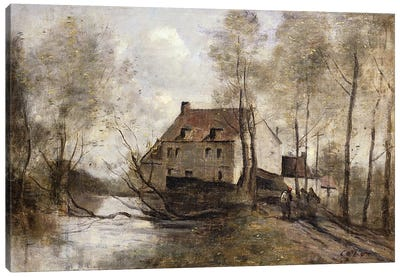 Le Moulin Brule, Planque, near Douai  Canvas Art Print