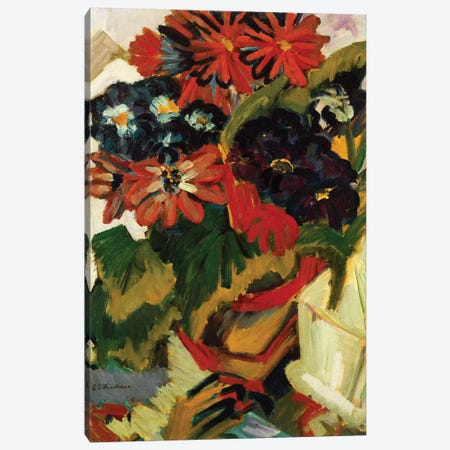 Flowerpot and Sugar Bowl, 1918-19  Canvas Print #BMN5283} by Ernst Ludwig Kirchner Canvas Print