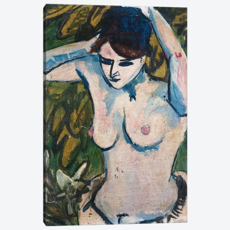 Woman with Raised Arms, 1910  Canvas Print #BMN5287} by Ernst Ludwig Kirchner Canvas Artwork