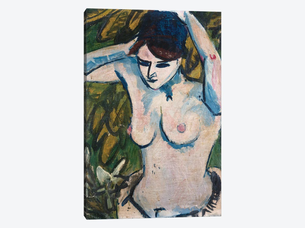 Woman with Raised Arms, 1910  by Ernst Ludwig Kirchner 1-piece Art Print
