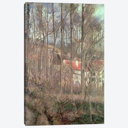 The Cote des Boeufs at L'Hermitage, Pontoise, 1877  Canvas Print #BMN528} by Camille Pissarro Canvas Art Print