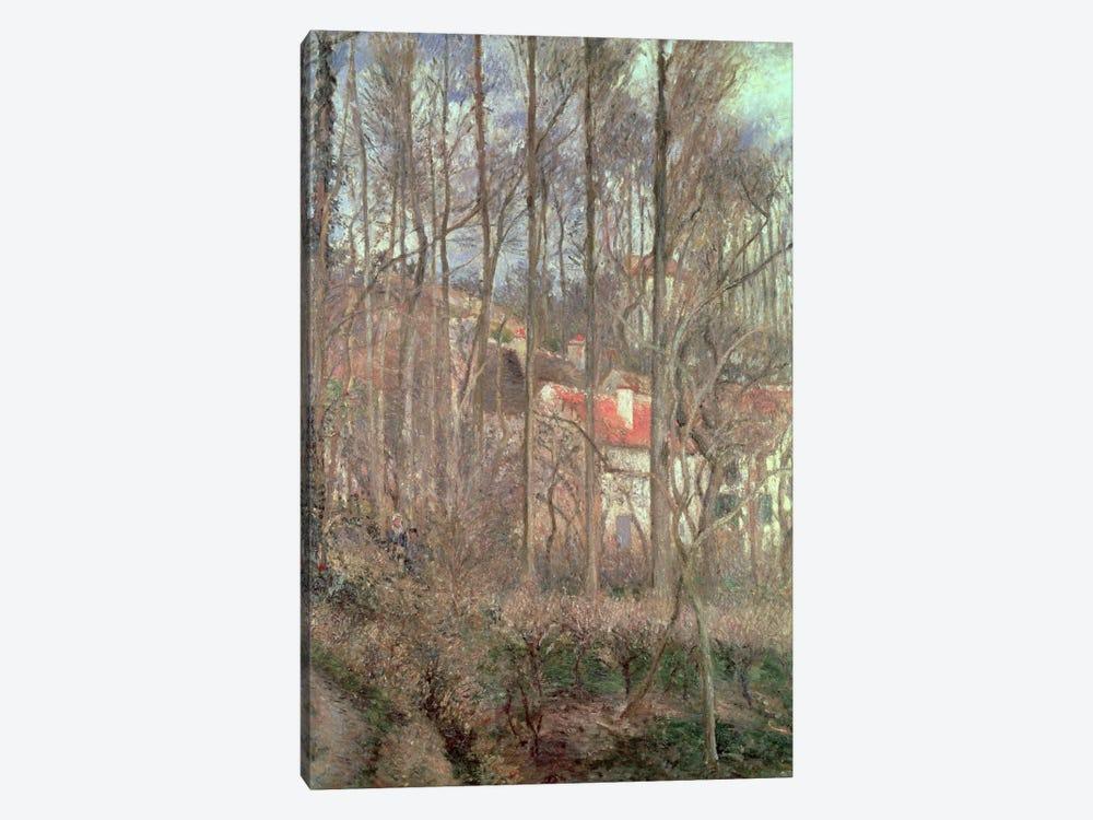 The Cote des Boeufs at L'Hermitage, Pontoise, 1877  by Camille Pissarro 1-piece Art Print