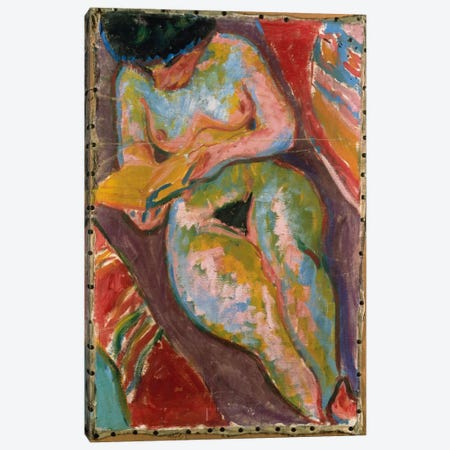 Female Nude  Canvas Print #BMN5290} by Ernst Ludwig Kirchner Canvas Wall Art