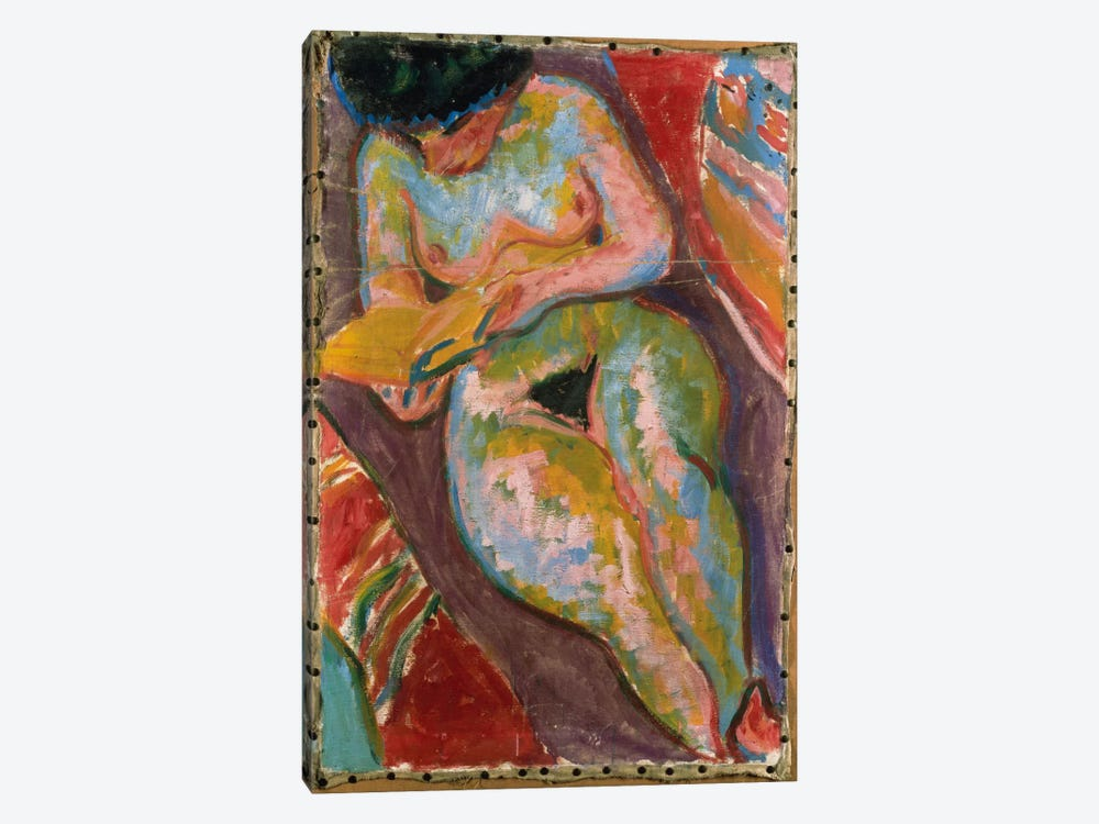 Female Nude  by Ernst Ludwig Kirchner 1-piece Canvas Print