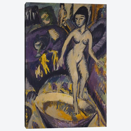 Female Nude with Hot Tub, 1912  Canvas Print #BMN5291} by Ernst Ludwig Kirchner Canvas Art