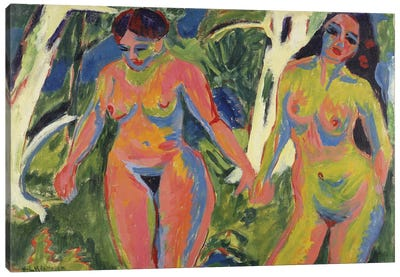 Two Nude Women in a Wood, 1909  Canvas Art Print