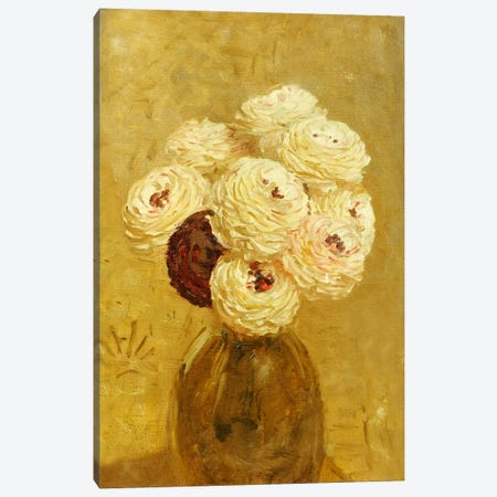 A Vase of Dahlias  Canvas Print #BMN5294} by Albert Joseph Moore Art Print