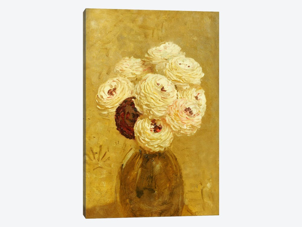 A Vase of Dahlias  1-piece Canvas Print